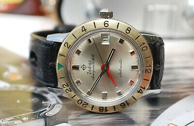 ZODIAC AEROSPACE GMT AUTOMATIC GENTS VINTAGE DIVER WATCH c1960's-RARE!