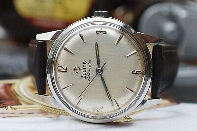 ZODIAC AUTOMATIC CALIBRE 70 SWISS GENTS VINTAGE WATCH c1960's-STUNNING!