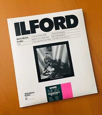 "Ilford 8x10"" MGIV Multigrade IV RC Deluxe Photographic Paper 25 sheets NEW"