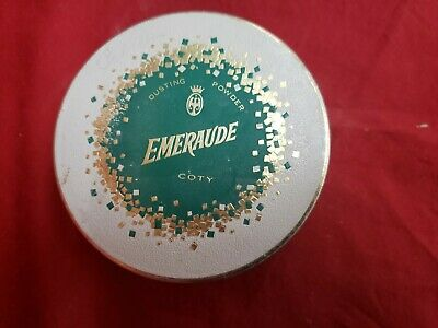 Vintage Coty Emeraude Dusting Powder Tin 5.25 oz EMPTY No. 341-40