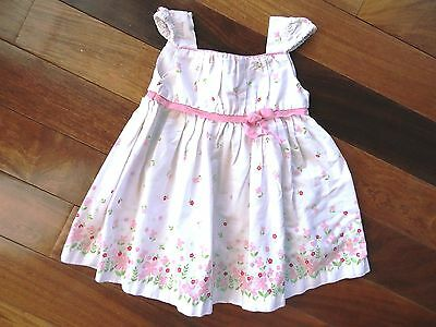 f026a3e2b GEORGE Baby Girls Infant/Toddler 18 Months WHITE with PINK FLOWERS SUN DRESS