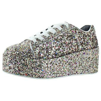 4142564fe97 STEVE MADDEN SNEAKERS silver leather No Laces heart and dagger Love ...