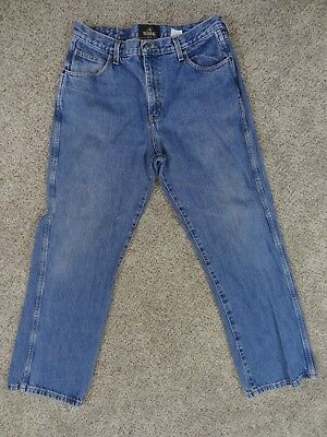 Bass Pro RED HEAD Mens Size 36X32 Cotton BOOTCUT Denim BLUE JEANS