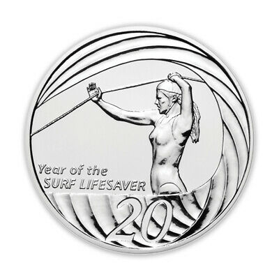 Australia 2007 Year of The Surf Lifesaver 20c Cents UNC Coin RAM in Capsule/Card