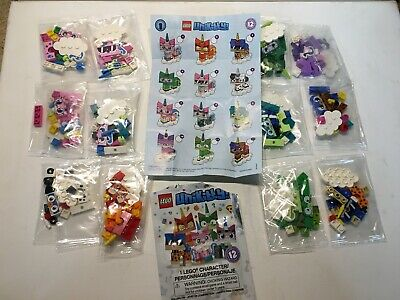 Lego Unikitty Minifigures Series 1 COMPLETE SET of 12 in poly baggies BRAND NEW