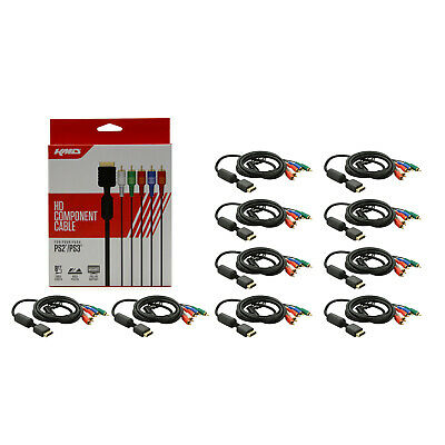 Wholesale Lot of 10 PS3 PS3 HD Component AV Gold Plated Cable KMD New HDAV