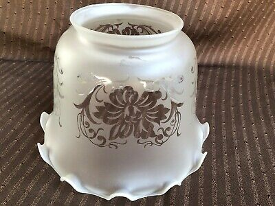 *****  Vintage Art Deco French Vianne Acid Etched Glass  Lamp Shade  *****
