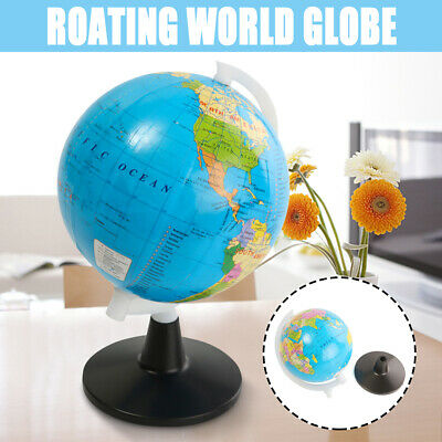 360° Rotating Mini World Globe Earth Map With Stand Geography Educational Kids