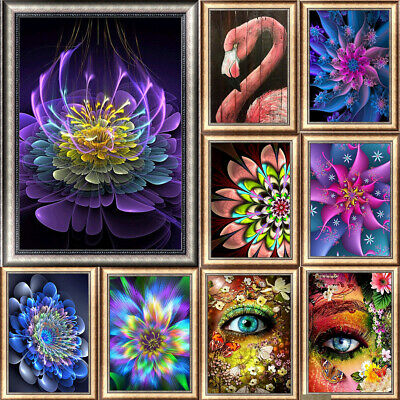More Flower DIY 5D Diamond Painting Kitten Cross Stitch Kits Home Decor Craft