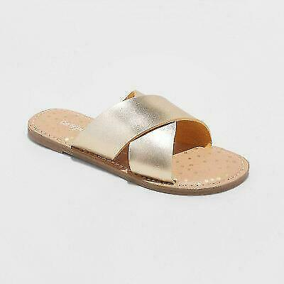 a37354f5527e GIRLS  ROSIE SCALLOPED Thong Sandals - Cat   Jack™ Gold Size 2 ...