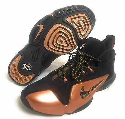 los angeles f288c 4f8cb NEW Nike Zoom Penny VI 6 Men s Basketball Shoes Black Gold 749629-001 Size  8.5