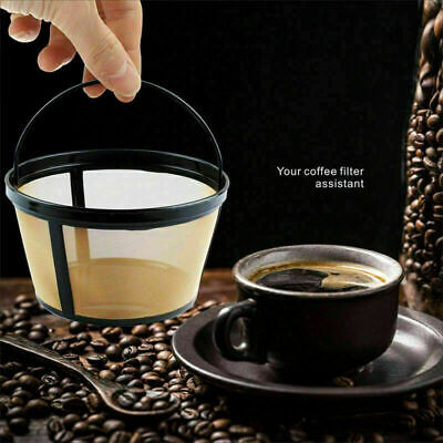 10-12 Cup Coffee Filter Basket-style Reusable Permanent Metal Mesh Coffee Tool