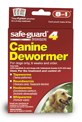 Excel 8in1 Safe-Guard Canine Dewormer for Dogs, 3-Day Treatment Large