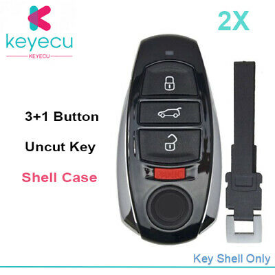 Silicone Shell Cover fit for VOLKSWAGEN Touareg Smart Remote Key Case Fob 4801BK