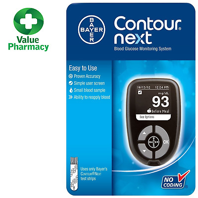 NEW Contour Next Blood Glucose Meter Monitoring System Bayer + FREE POSTAGE