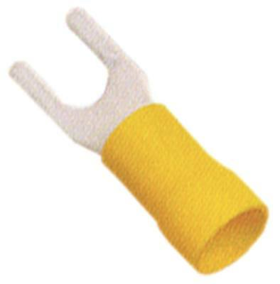 Fork Terminals Yellow Size M4 Insulated Cu PVC Max. Temperature 75°C