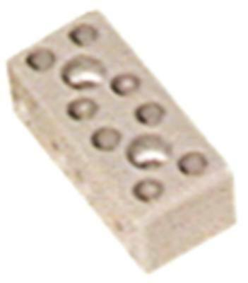Porcelain Terminal 4-pin 10a Width 20mm Height 15mm Length 40mm Hole Distance