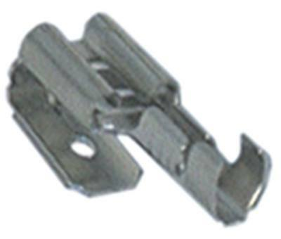Straight Blade Receptacle with Plug Cuzn Gal Sn with Plug Größe 6, 3x0, 8mm