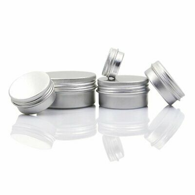 5-100ML Aluminum Cosmetic Tin Pot Lip Balm Jar Container Oil Wax Empty HU