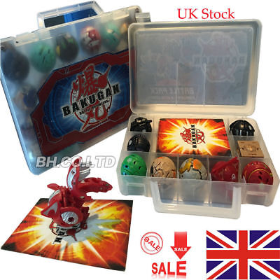 UK Ship 18 Pcs/ 9Pcs bakugan &Metal Cards in Bakucase Kids Toys Battle Brawler