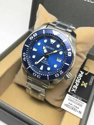 Seiko Sumo Prospex Automatic Dive Watch Blue Dial Stainless Steel Sbdc069 Fr*4