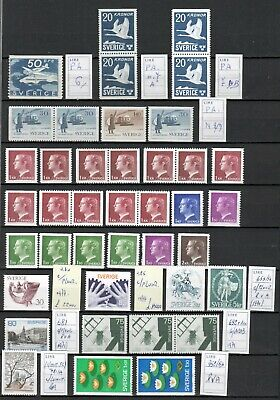 s30162) SWEDEN MNH** from 1936  lot of AM and specialized stamps as per scan