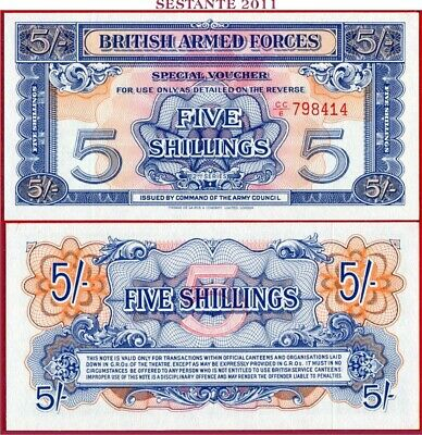 GREAT BRITAIN - BRITISH ARMED FORCES - 5 SHILLINGS nd 1948 - P M20a - FDS / UNC