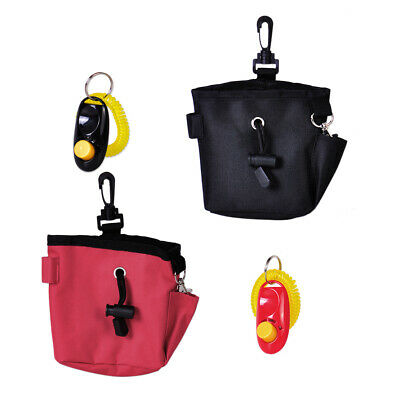New Canvas Dog Pet Puppy Snack Treat Training Bait Ball Pouch Clicker Waist Bag