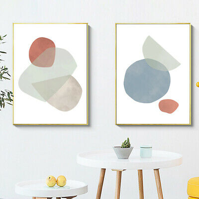Abstract Shape Canvas Poster Geometric Simple Wall Art Print Nordic Home Decor