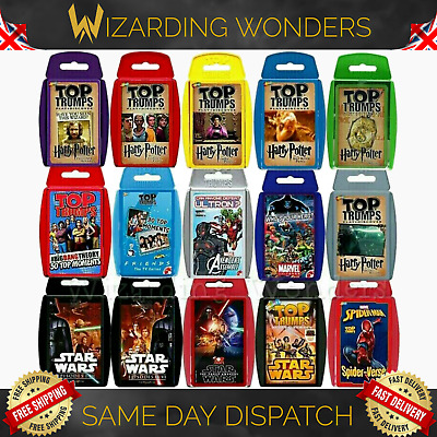 Official Top Trumps Card Game Harry Potter Friends Marvel Star Wars Avengers