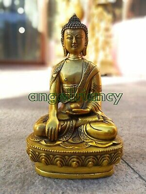 shakyamuni bronze Medicine buddha antique excellent carved old bronze statue