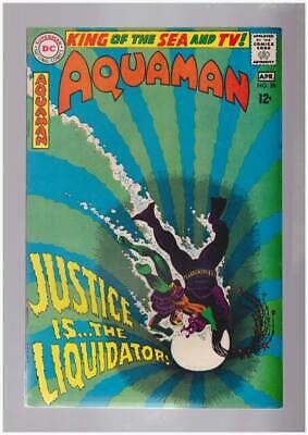 Aquaman # 38  Justice is...the Liquidator !  grade 9.0 scarce book !