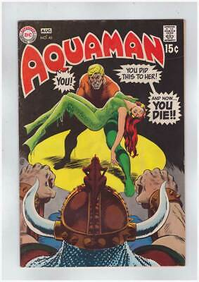 Aquaman # 46  You did this to Her ! And Now...You Die !  grade 8.0 scarce book !