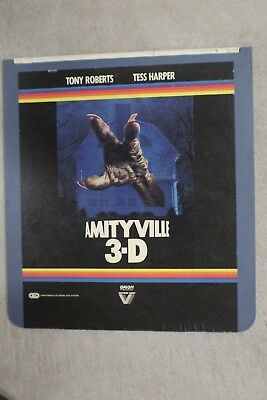 Amityville Horror 3D CED Video Disk Movie Cult Classic Tony Roberts HTF