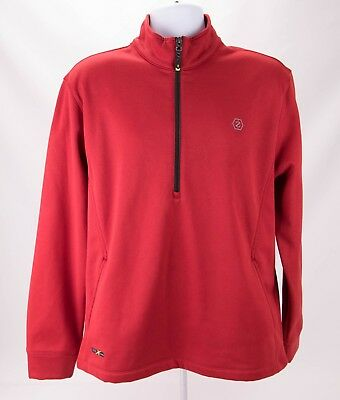 NEW WAVE MEN'S Red 14 Zip Pull Over Sweatshirt Size 4XL
