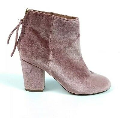 aef249ff2aa Steve Madden Women s Cynthia Velvet Pink Rear Zip Ankle Boots Size 5.5 M