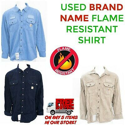 9e9dc224251 FLAME RESISTANT WORK Shirt Used Cintas