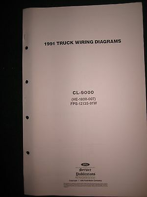 1991 ford cl-9000 clt-9000 wiring diagram manual schematic sheets cl9000  clt9000