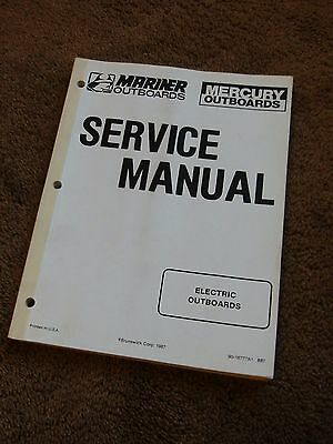 1987 MERCURY MARINER Electric Outboard Service Manual P/n 90
