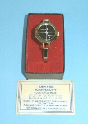 Vtg. Swiss made Diantus wind up Women's Watch ~ New Old Stock in orignal box
