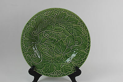"Bordallo Pinheiro Green Vine 12 1/4"" Chop Dinner Platter Raised Portugal #2"