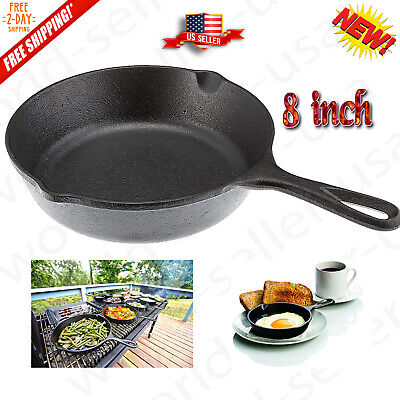 Lodge 8 Inch Cast Iron Skillet Small Pre-Seasoned Skillet for Stovetop, Oven