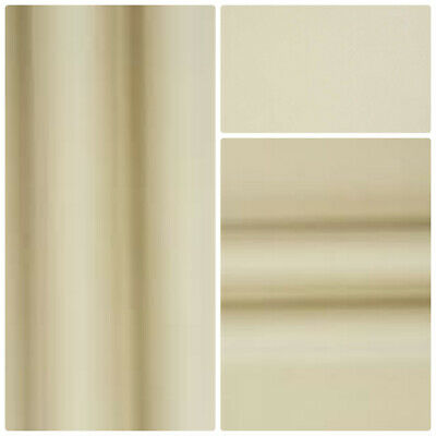 """Blackout Thermal Soft Ivory Curtain Lining Fabric Pass 3 , 54"""" wide"""