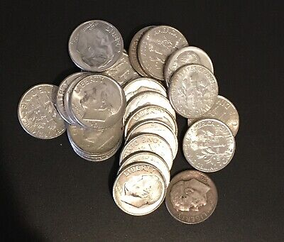 (2) Two 1964 Or Earlier 90% Silver Roosevelt Dimes 10c Coins Collectible