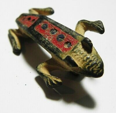 Zurqieh - As11752-  Ancient Roman Enameled  Bronze Frog. 100 - 200 A.d