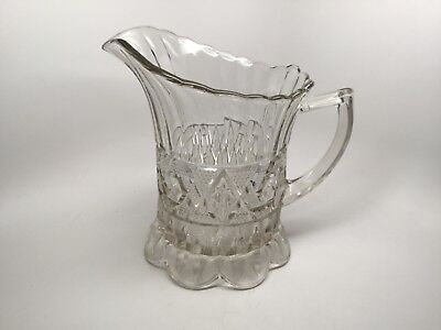 "Antique Eapg Victorian Era Pattern Glass 8 1/2"" Water Pitcher"