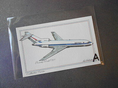 Boeing Model 727 Vintage 1973 Roy Andersen Collectors Series Airplane Postcard A