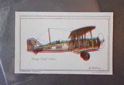 "Boeing 40B-4 Vintage 1974 Roy Andersen Collectors Series Airplane Postcard ""3-D"""