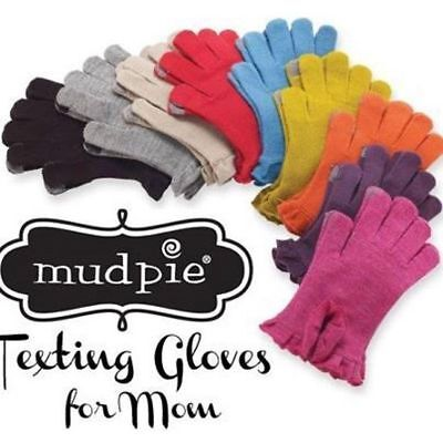 "Mud Pie Women's Winter ""Smart Screen"" Knit Texting Gloves Multiple Colors 850072"