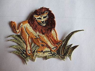 #3534 Golden,Black Animal Lion Embroidery Iron On Applique Patch